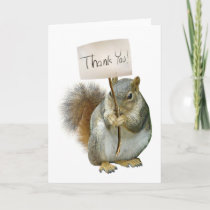 Squirrel Thank You Card