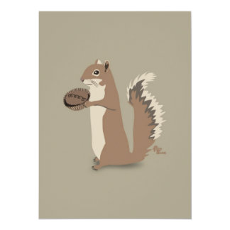"Squirrel Thank You Note 5.5"" X 7.5"" Invitation Card"