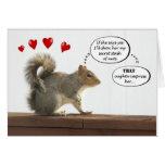 Squirrel - That oughta impress her Valentine card