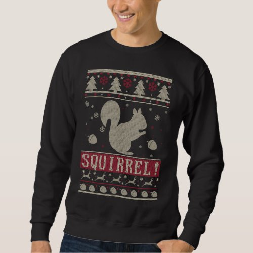 Squirrel Ugly Christmas Sweatshirt After Christmas Sales 2441