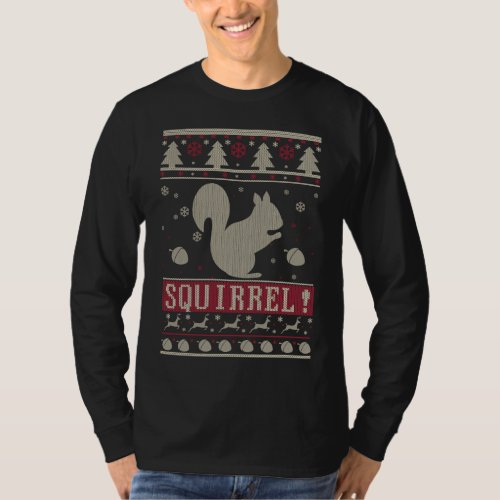 Squirrel Ugly Christmas T-Shirt After Christmas Sales 2444