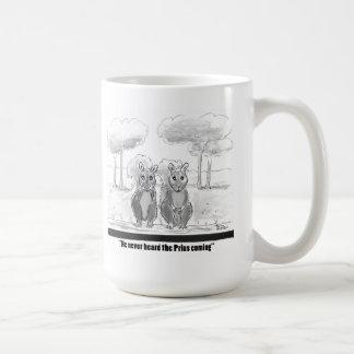 Squirrel v Prius Coffee Mugs