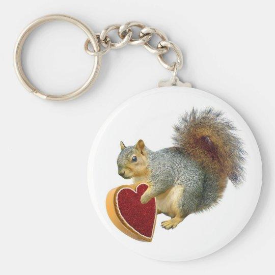 Squirrel Valentine Keychain
