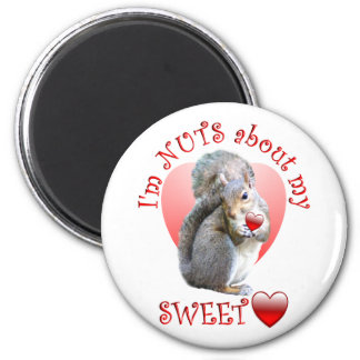 Squirrel Valentine Magnet