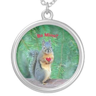 Squirrel Valentine Personalized Necklace