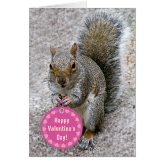 Squirrel Valentine's Day Card