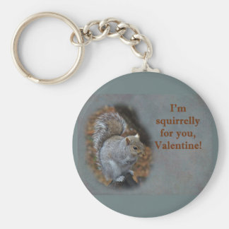 Squirrel Valentine's Day Card Keychain