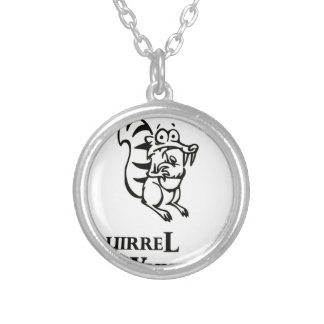 Squirrel Whisperer Silver Plated Necklace