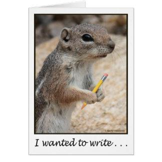 Squirrel With a Pencil Card