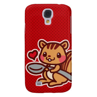 Squirrel with a spoon galaxy s4 cases