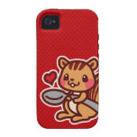 Squirrel with a spoon iPhone 4 cases