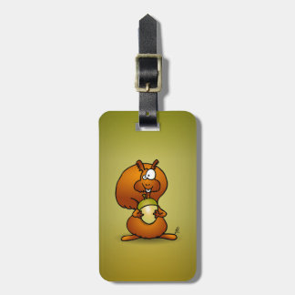 Squirrel with acorn bag tag