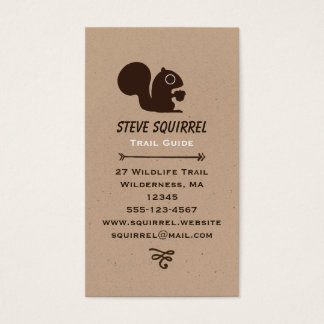 Squirrel with Acorn Business Card