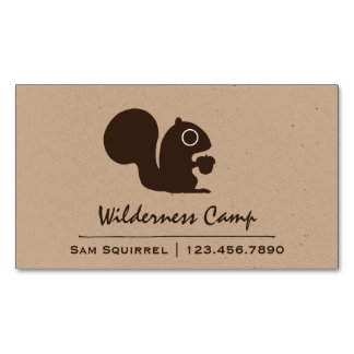 Squirrel with Acorn Magnetic Business Card