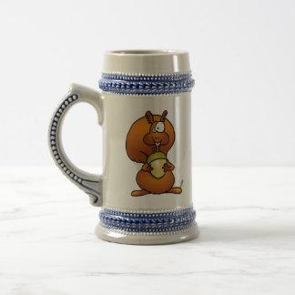 Squirrel with acorn 18 oz beer stein