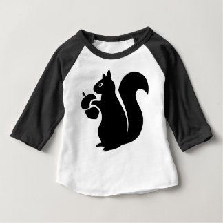 Squirrel With Acorn Silhouette Baby T-Shirt