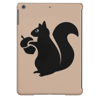 Squirrel With Acorn Silhouette iPad Air Cases