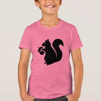 Squirrel With Acorn Silhouette T-Shirt
