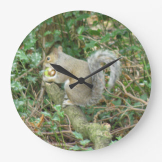 Squirrel with Acorn Wall Clock