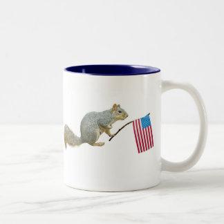 Squirrel with American Flag Mug