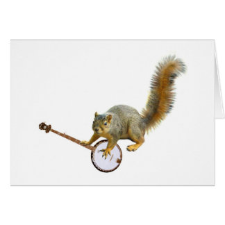 Squirrel with Banjo Greeting Card