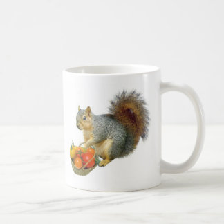 Squirrel with Basket of Tomatoes Coffee Mug