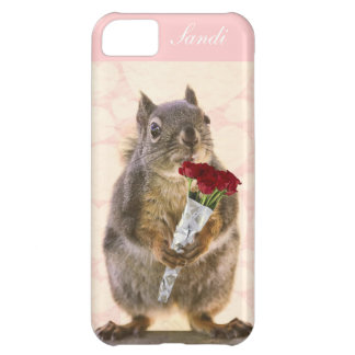 Squirrel with Bouquet of Red Roses Cover For iPhone 5C