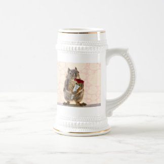 Squirrel with Bouquet of Red Roses Coffee Mug