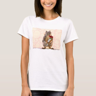 Squirrel with Bouquet of Red Roses T-Shirt