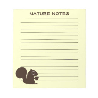 Squirrel with Custom Text Note Pad