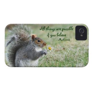 Squirrel with Daisy Mark 9:23 Blackberry Case
