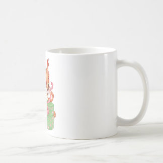 squirrel with gift coffee mug