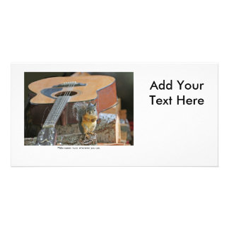 Squirrel with Guitar Picture Card