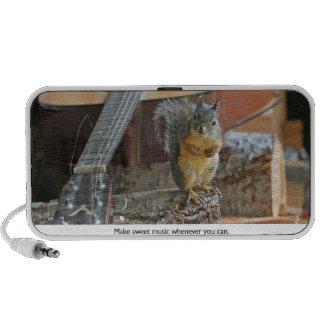 Squirrel with Guitar Mini Speaker