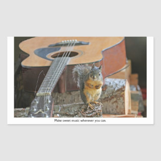 Squirrel with Guitar Stickers