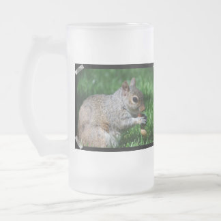 Squirrel with Nut Frosted Beer Mug