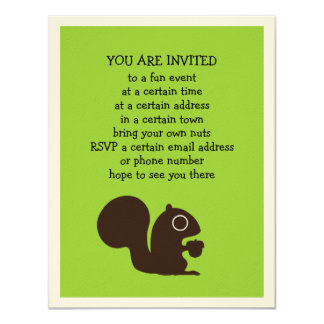 Squirrel with Nut - Fully Customizable Card