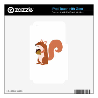 Squirrel With Nut Skins For iPod Touch 4G