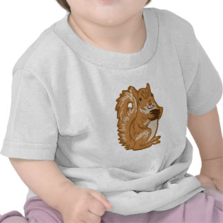 squirrel with nut t shirt
