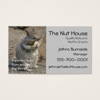 Squirrel with Peanut Nom Nom Business Card