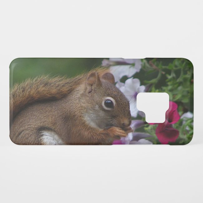 Squirrel with Petunia Flowers Galaxy S9 Case