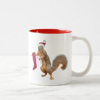 Squirrel with Stocking Mug