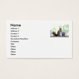 Squirrel with Wrapped Presents Business Card