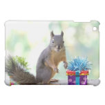 Squirrel with Wrapped Presents iPad Mini Covers