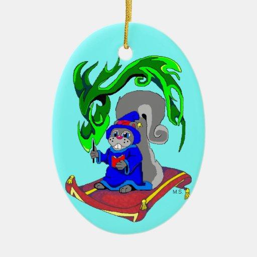 Squirrel Wizard Ornament