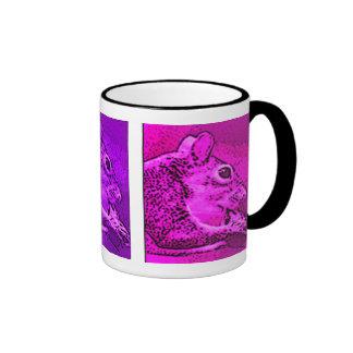 """Squirrelhol""  jeweltones Ringer Mug"