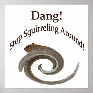 Squirreling Around Poster