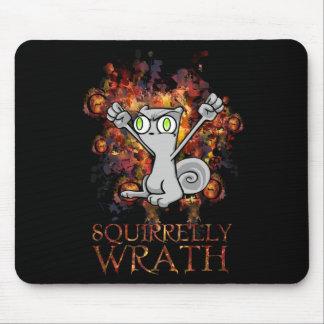 Squirrelly Wrath! Foamy Mousepad