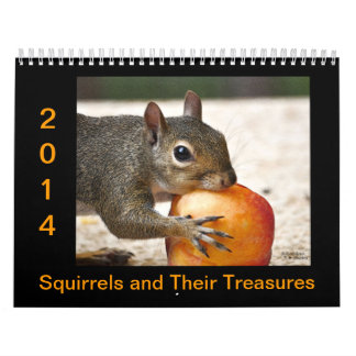 Squirrels and Their Treasures Wall Calendars
