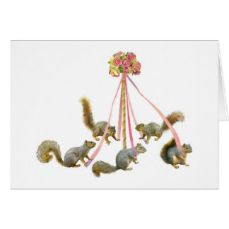 Squirrels Around the Maypole Card